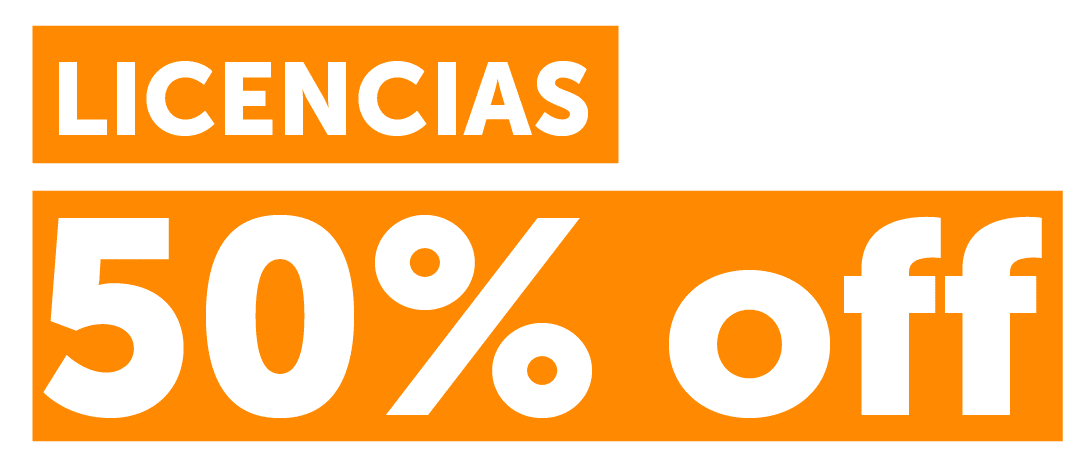 Licencias 50% OFF